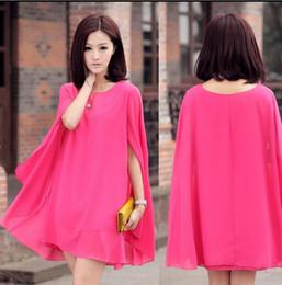 Wholesale New Korean Spring And Summer maternity clothing plus size Cloak chiffon dress Prom Dress