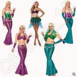 Wholesale 5 diseños de la sirena del partido de Cosplay de Halloween atractivo del traje de Cosplay del traje de la sirena de la sirena del club del traje de Cosplay LJJC5182