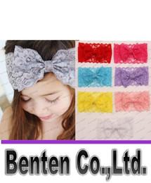 Wholesale Accesorios para el cabello del niño del bebé lindo de los niños del arco de Hairband de la venda del turbante cordón Headwear Hairband blanca y rosa rojo morado LLFA160