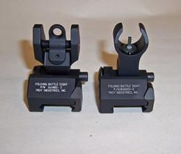 Troy Industries Задний Battle Back Up Iron Sight черный складной (2-Piece Pack) Бесплатная доставка черный