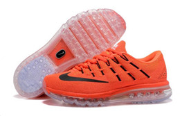 2016 Red Mens Running Shoes New Nike Air Max 2016 Orange red Men Running Shoes 100