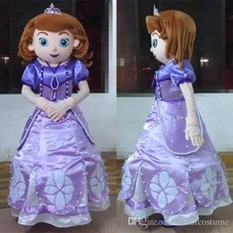 Wholesale free shippping cartoon sofia the first mascot costume princess adult sofia costume for adult to wear