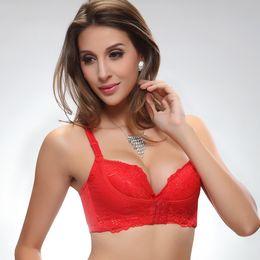Wholesale 2016 Sexy Lace Women s Push up Bra Front Closure Adjustment Bra Oil Massage Healthy Body Bustier Women Seamless Bra New Brand
