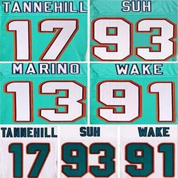 Women's New Miami Dolphins 91 Cameron Wake Green White Limited Jersey