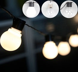 Connectable Outdoor Christmas Lights: Discount connectable outdoor christmas lights Wholesale-Outdoor 20 LED  Globe Connectable Festoon Party Ball string,Lighting