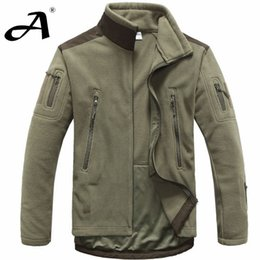 Wholesale para hombre del ejército de lana invierno de la chaqueta del softshell de ropa de caza al aire libre de la ropa del otoño de softshell de los hombres chaquetas de estilo militar