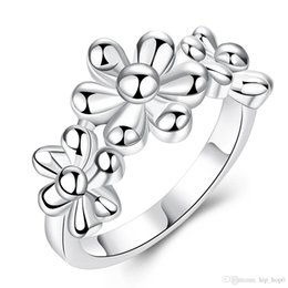 fashion jewelry pretty flowers rings 925 sterling silver ring wedding ring for women size 7 8 top quality party ring free shipping pretty woman wedding - Wedding Rings On Sale