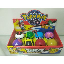 7.5CM 3Pcs Pokeball + 3pcs Free Random Little Elf Figure Anime Action Figures Pikachu Pokeball Ball Toys For Kids Best Gift from best random gifts manufacturers