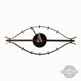 discount designer wall watches home decor designer eye wall clock silence quartz watch horloge murale factory