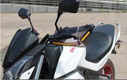 1 пара мотоциклов PC Модификация крышки Руль Прозрачные Handlebar Анти аксессуары Мотоцикл лобовое стекло