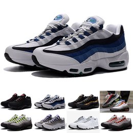2016 shoes run air max Cheap Max 95 Premium OG Slate OG White Emerald Green Blue 554970-131 Running Shoes For Men, Air Shoes Athletic Shoes Fashion Kids shoes inexpensive shoes run air max