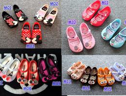 Wholesale Mini Melissa Shoes Summer girls Sandals Clogs Cute Girls shoes Children Mitch Baby Shoes For Girl shoes size EU24 mini melissa