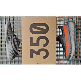 2016 Yeezys 350 Boost V2 Season 3 SPLY 350 Boost V2 Black White Kanye West Grey Orange Sneakers 350 Boost Size 11.5