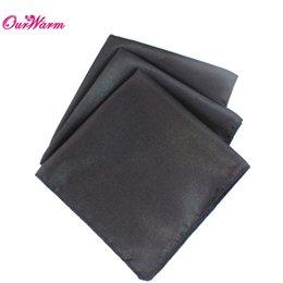 10 шт / много Черный сатин обеденный стол салфетки 12