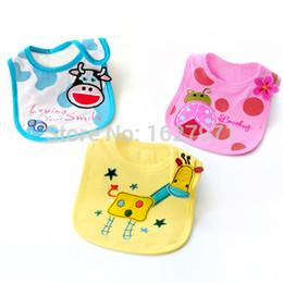 Wholesale Baby Bibs Waterproof Embroidered Burp Cloths Dribble Bibs Baby Slabbers Cartoon Chest Feeding Baby Bib Waterproof