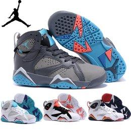 Nike Air Jordan Vii Childrens Shoes Original Basketball Shoes Kid Sneakers High Quality 2015 New Aj 7 Boys Girls Sport Boots Size 11c-3y New