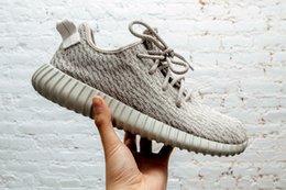 Wholesale Adidas Yeezy Boosts Kanye West Yeezy Classic Black Men Tan Yeezy Trainers Shoes Perfect Yeezy With Original Box
