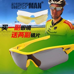 glass lens sunglasses polarized y6an  INDEPMAN factory direct sales of outdoor sports glasses riding  mountaineering glasses polarizing glasses dual color lenses