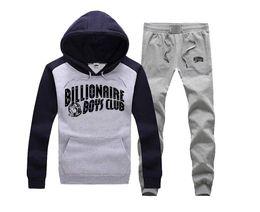 Wholesale BILLIONAIRE BOYS CLUB Hoodies BBC Men Hip Hop suit Cotton Sweatshirts black letter Tops spring Baseball uniform