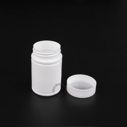 Wholesale 20pcs x g Wide Mouth White Plastic Pill Bottle Empty PE Containers For Pharmaceutical Medicine Capsule