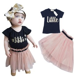 Wholesale Baby kids Clothing Set Baby Gril t shirts tutu skirt Clothes toddler clothes summer kids clothes sets children clothing