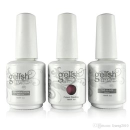 Wholesale 12pcs Nexu Gelish Nail Polish Soak Off Nail Gel Polish color gel pc top coat pc base New Colors DHL