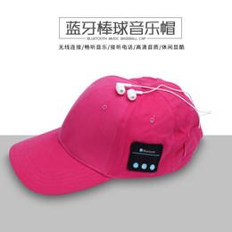 La música de Bluetooth de la moda gorra de béisbol multi-colores de algodón sombrero de auriculares auriculares inalámbricos Sunhat casquillos del deporte ocasionales para las mujeres de los hombres de 10pcs DHL