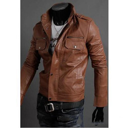 Discount Mens Brown Leather Biker Jacket | 2017 Mens Brown Leather