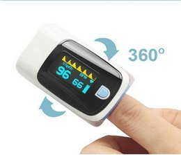 Wholesale Portable LED Finger Pulse Oximeter Blood Oxygen SpO2 Saturation Oximetro Monitor for Health care