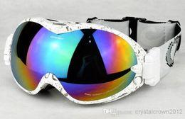 Nuevo diseño multicolor de doble dlayer Esquí anti-vaho gafas de viento UV gafas de esquí Escalada para la miopía