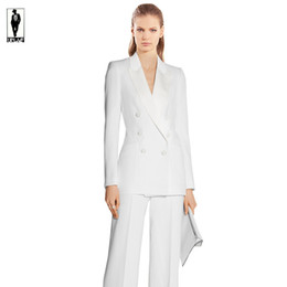 White Double Breasted Woman Suit Online | White Double Breasted ...