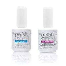 Wholesale Base Top Coat Nail Art Soak Off UV LED Gel Nail Polish Gelish Foundation Top it Off