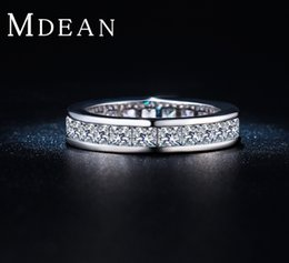 mdean fashioned wedding rings white gold plated vintage engagement jewelry zirconia vintage accessories simple beauty msr288 - Vintage Wedding Rings For Sale