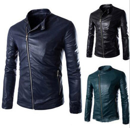 Discount Black Leather Jacket Men Cheap | 2017 Black Leather ...