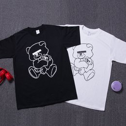 Wholesale Design Brand T Shirt Cute Bear Printed White Black T shirts Tees Undercover Hip hop Jogger Shirt Top LLWF0519