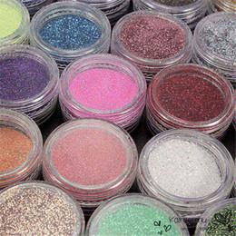 Wholesale 24pcs pack Nail Art Salon Glitter Acrylic Powder For Women Beauty Manicure Dust Gel Tools Random Color