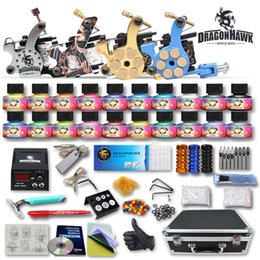 Wholesale Tattoo Kit Machine Gun USA Color Ink Power Supply Needles D176GD