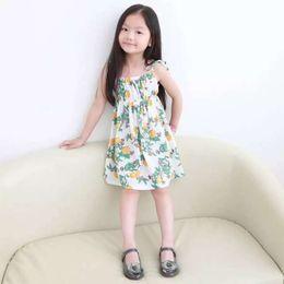 Wholesale Everweekeng Summer Baby Girls Ruffles Suspender Dress Print Floral And Animals Tied Bow Girls Sundress