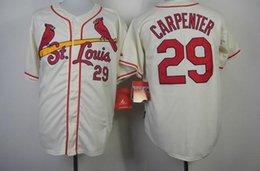 online shopping Cardinals Carpenter White Baseball Jerseys Top Cool Base Team Baseball Apparel Authentic Baseball Uniforms High Quality hot sell