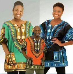 Wholesale 2016 harajuku Crop Top design african traditional Dashiki Plus Size Women T shirt for unisex Punk Pink Couple Clothes EF2257 men s t sh