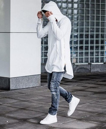 Discount new style man swag 2017 New Zipper Side Hooded Kanye Men Do Hoodie Hip Hop