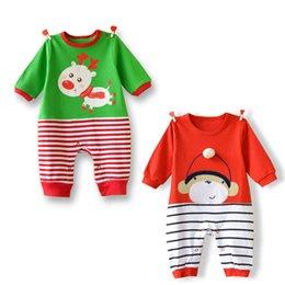 Wholesale 2016 bébé vêtements fille usure Printemps Automne bébé garçon nouveau né barboteuses bébé animal éléphant girafe onesies barboteuses jumpsuit