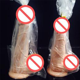 Realistic Big Dildo Penis realista impermeável com textura eixo e Ventosa Sex produto por Mulheres Sexy Toys Valentines presente