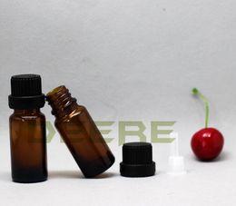 Эфирное масло стеклянная бутылка 5 мл и 10 мл Янтарный Круглый Эфирное масло стекло капельницы бутылки длинные тонкие бутылки типа