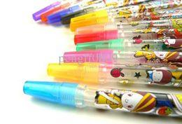 2017 pen refills blue color Blink Glitter Fruits Scent Pen super fruits scent cartoon blink pen ballpoint pen 12 Color