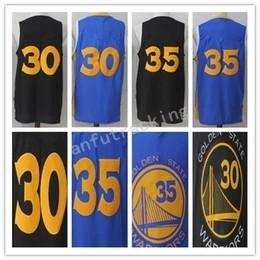 wholesale dealer 7888c c058b 2018 New season brand jerseys Men Basketball Retro Warri0rs #15 SPREWELL  #30 CURRY #35 DURANT Black Blue Yellow White Black Jerseys Short cheap  brand men ...