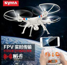 Syma original X8W 2.4G 6 Axis Gyro 4CH RC FPV QuadCopter RTF Wifi Drones profesionales con 2.0MP cámara de alta definición helicpoter la nave libre
