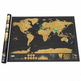Nuevo En Stock Deluxe Scratch Mapa Deluxe Scratch Mapa Mundial 82,5 x 59,5 cm 20pcs