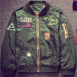 Wholesale Otoño Invierno hombre Moda impermeable chaqueta experimental táctico Escudo de la cremallera del estilo militar Bombardero Cardigan chaquetas rompevientos Vuelo