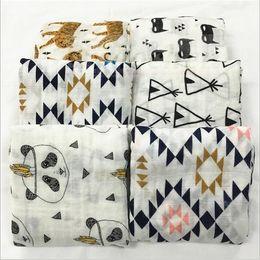 Wholesale Kids Muslin Swaddles Ins Wraps Blankets Nursery Bedding Newborn Organic Cotton Ins Swadding Bath Towels Parisarc Robes Quilt Robes A1114